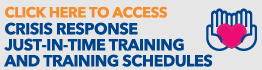 Access Crisis Response Just-in-Time Training and Training Schedules